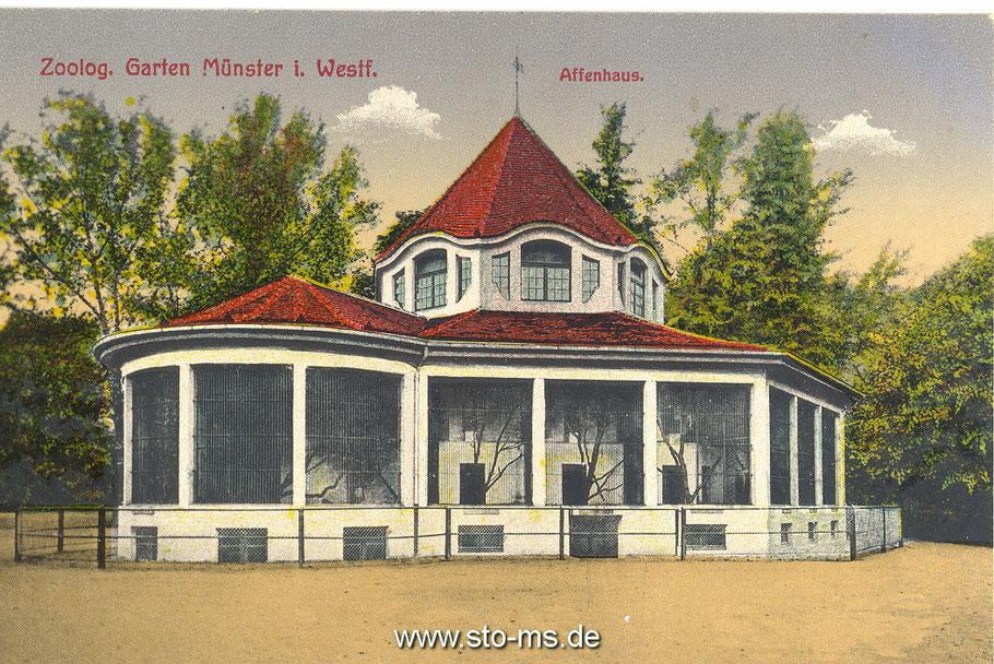 Das Affenhaus um 1900.