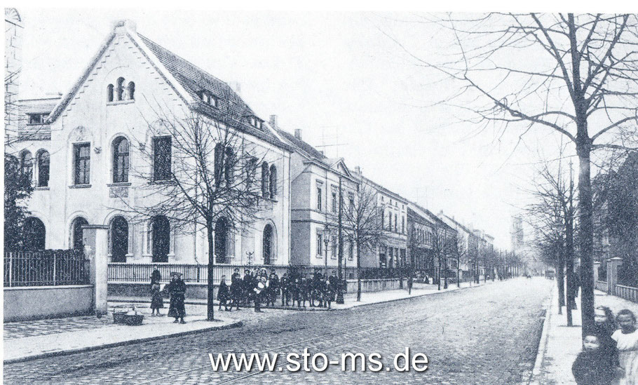 um 1910, links zur Josefsstraße
