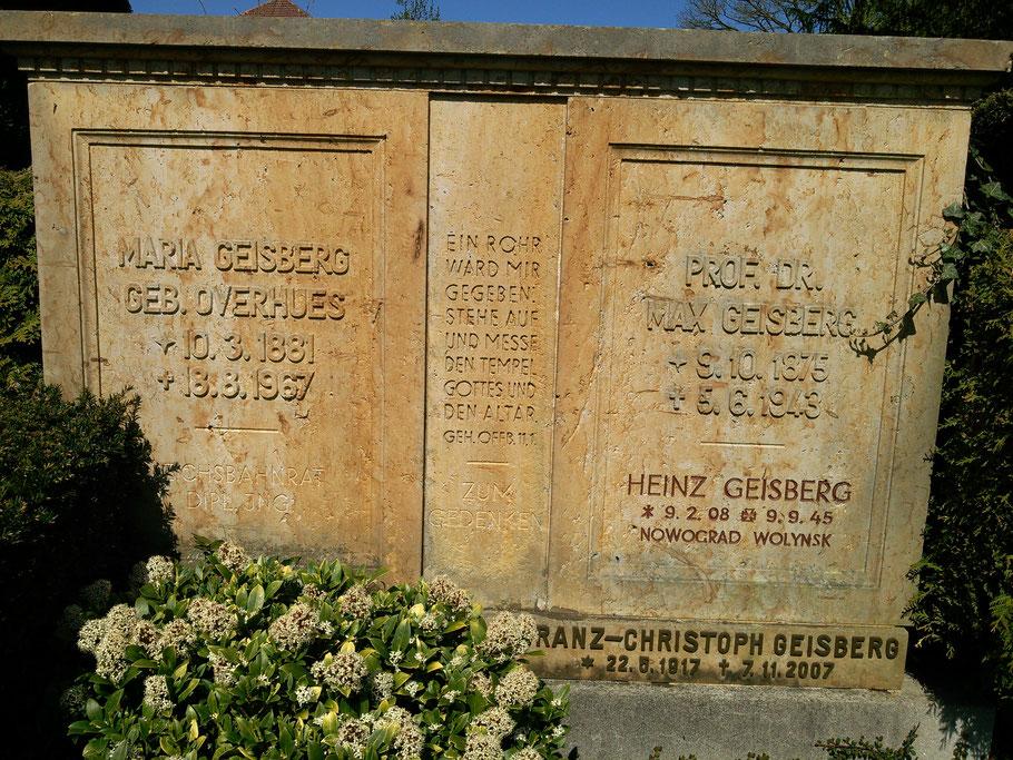 Grabstätte der Familie Geisberg