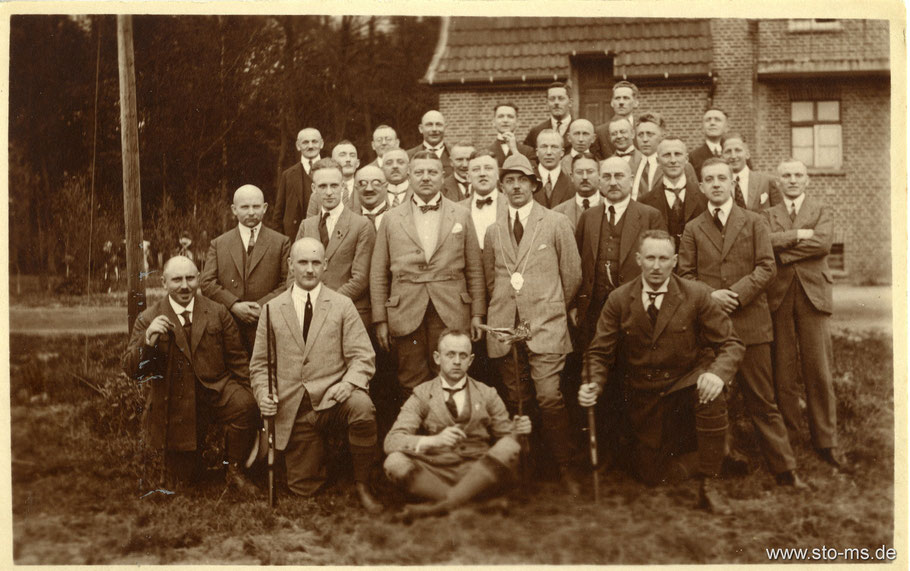 Schützenfest der Stadtverwaltung beim Römerwirt in Hiltrup 16.5.1925