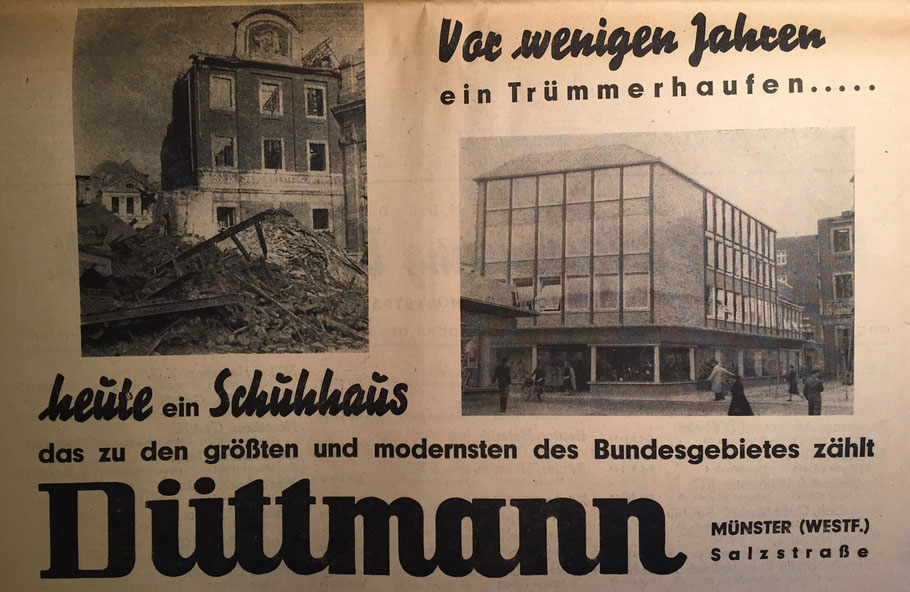 Zeitungswerbung 1955