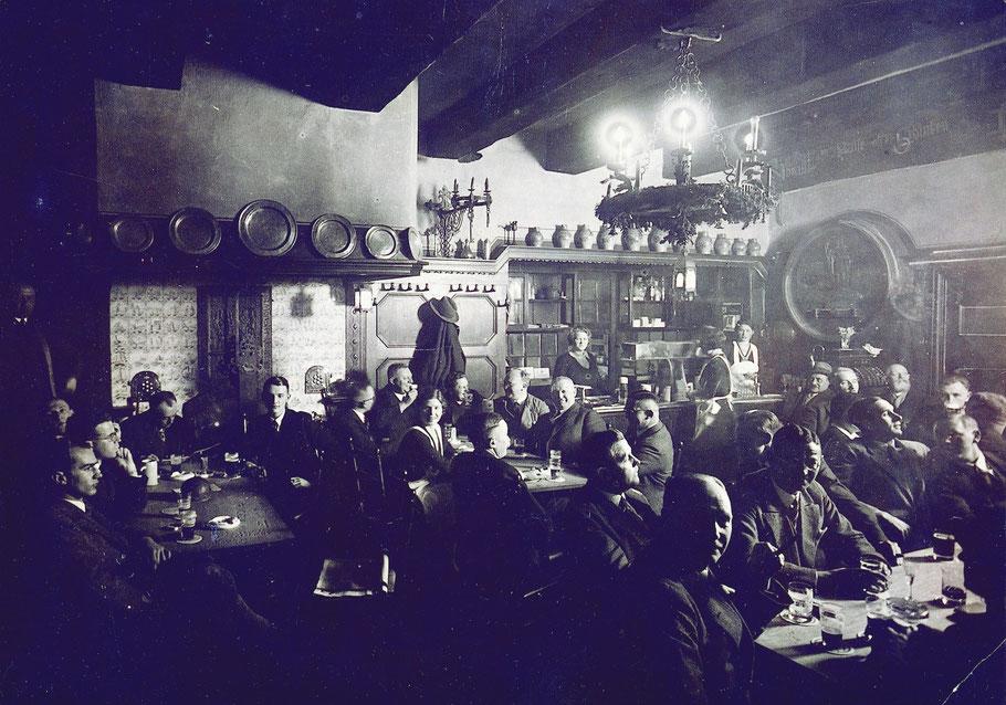 Die Altbierküche in den 1930er Jahren