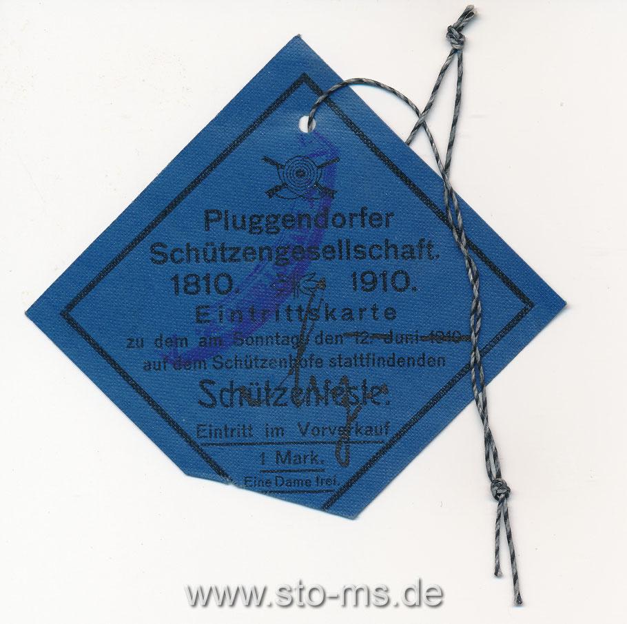 Pluggendorfer Schützengesellschaft 1910-1910