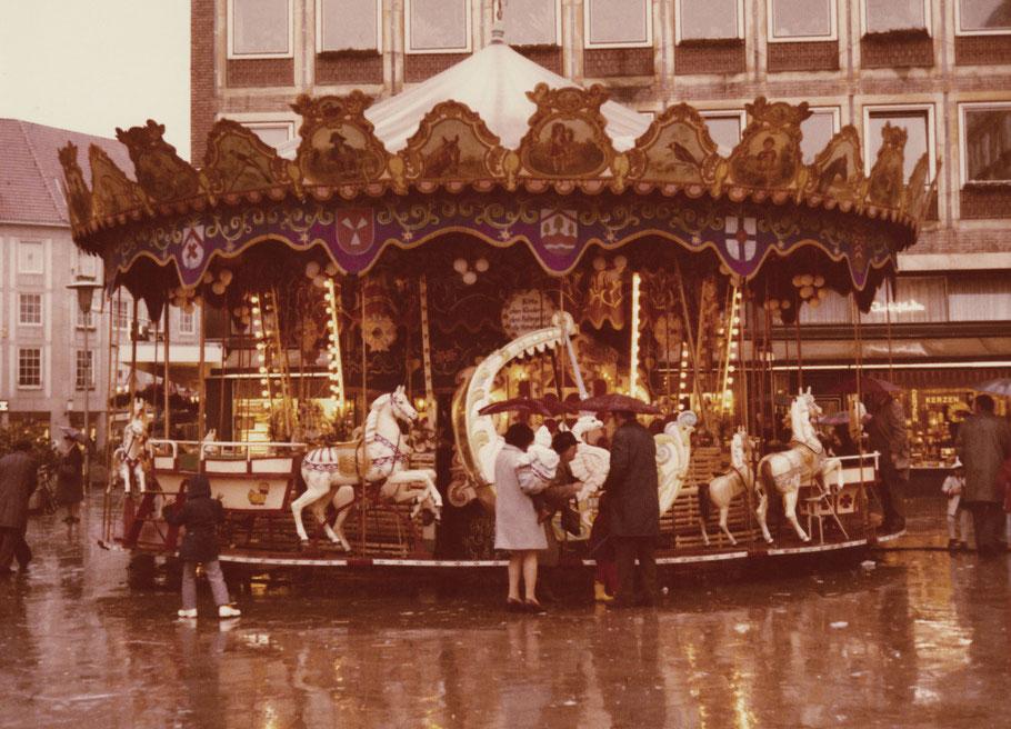 Weihnachtsmarkt 1972 an der Klemensstraße