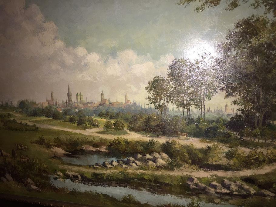 Nach einer alten Ansicht von Münster - Ausschnitt