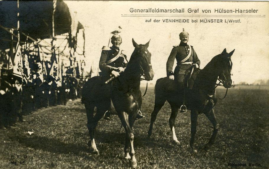Die Aufnahme entstand anläßlich des Kaiserbesuches in Münster