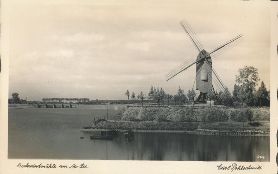 Aufschüttung an der Gaststätte Himmelreich mit Mühle, die Torminbrücke im Hintergrund - Foto Carl Pohlschmidt