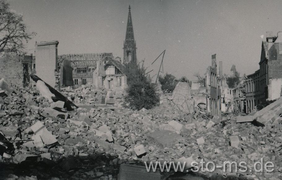 Blick von der Stubengasse in Richtung Lamberti Kirche