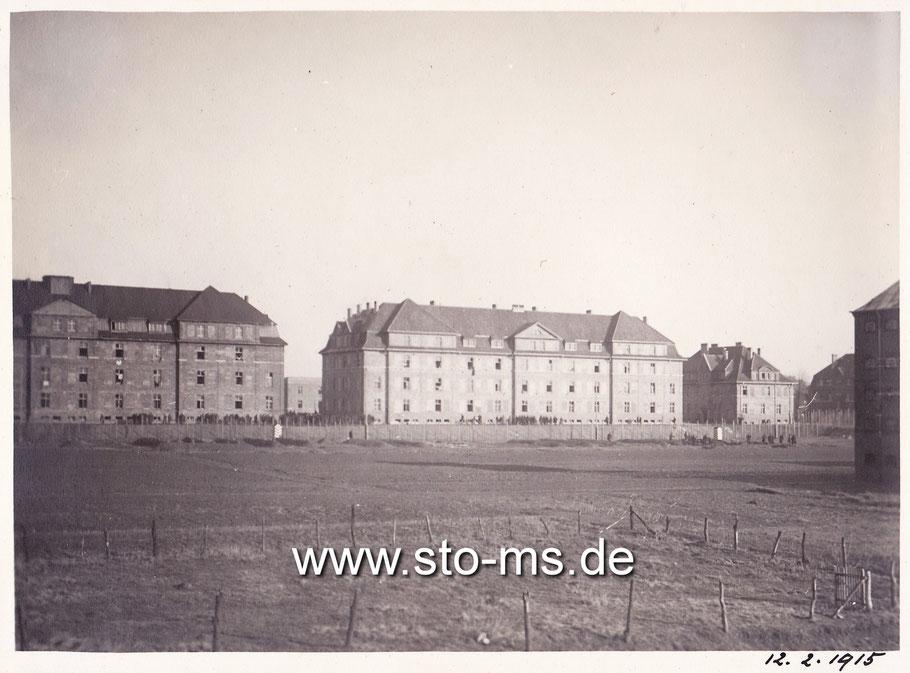 An der Grevener Straße lag die neu errichtete Artilleriekaserne.
