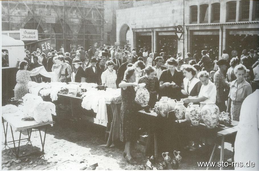 Übergangsweise fand 1950 der Markttag am Michaelisplatz statt.