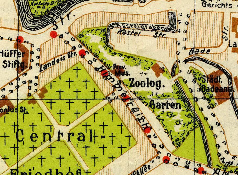 Ausschnitt aus Stadtplan von 1925 - 6222.284.15