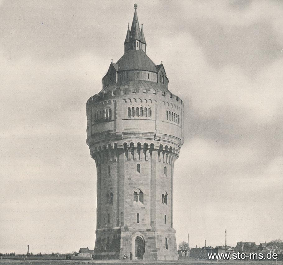 Der imposante Wasserturm im Geistviertel - erbaut im neuromanischen Stil, fast 60 Meter hoch
