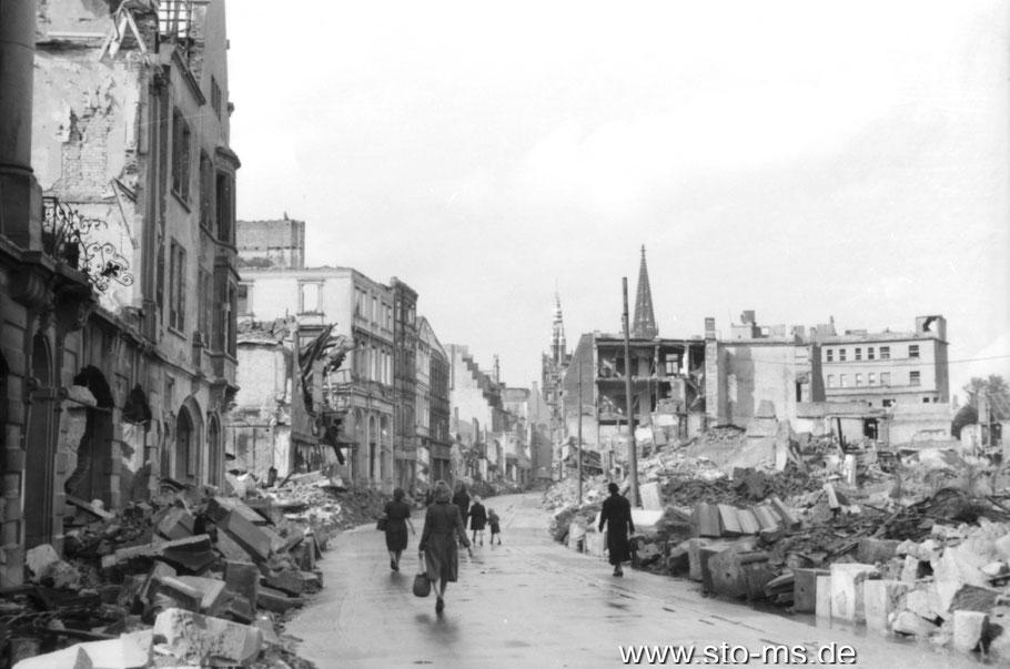 1945 - Trümmer Merveldter Hof - Foto Carl Pohlschmidt ULB Münster