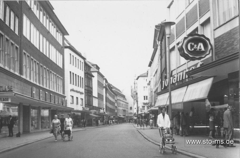 Die Ludgeristraße mit Hettlage 1967