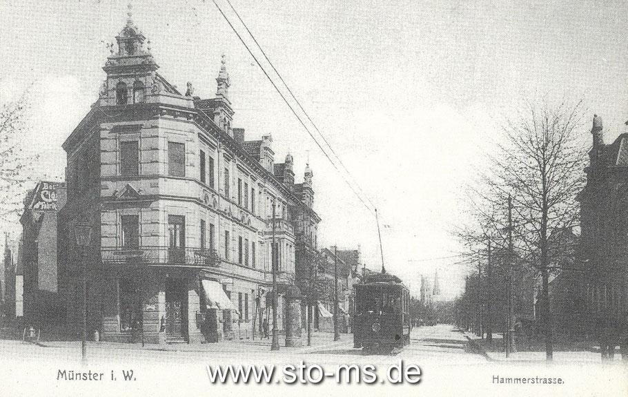 Stadteinwärts, links zur Hermannstraße
