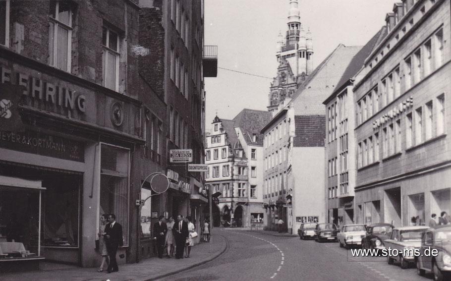 Die Rothenburg mit der Fassade der Stadtsparkasse 1967