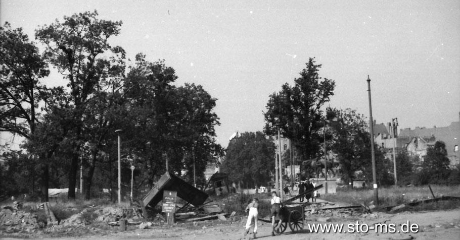 Ludgeriplatz Sommer 1945 - Fotograf Carl Pohlschmidt - ULB