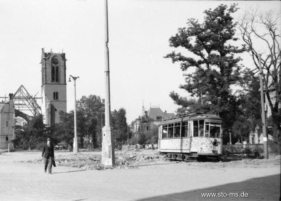 Sommer 1945 Servatiiplatz - ULB Münster