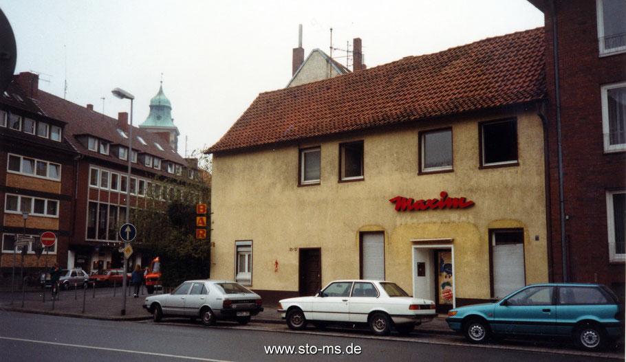 Die alte Maximbar an der Wasserstraße-Neubrückenstraße