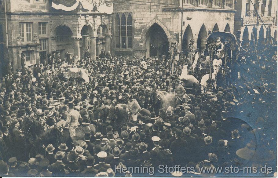 Auf dem Prinzipalmarkt 1911