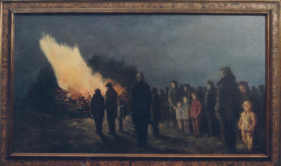 Kinderhauser Osterfeuer auf Pastors Wiese