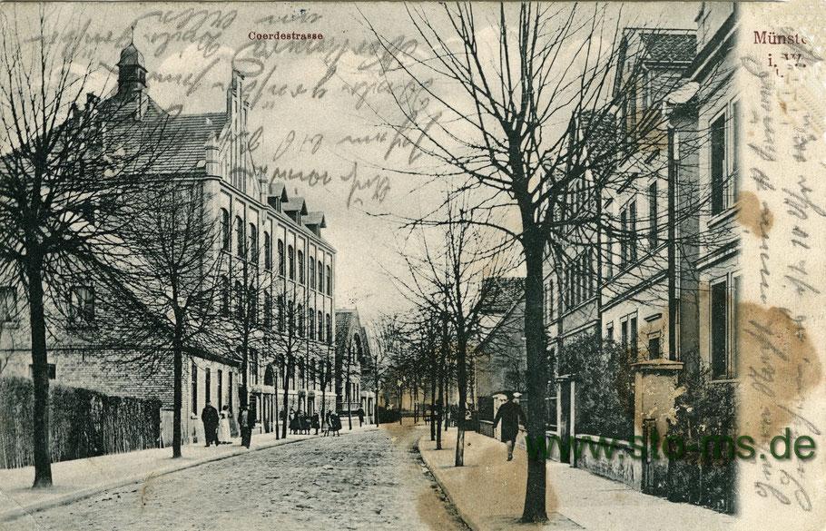 Die Coerdestraße um 1910