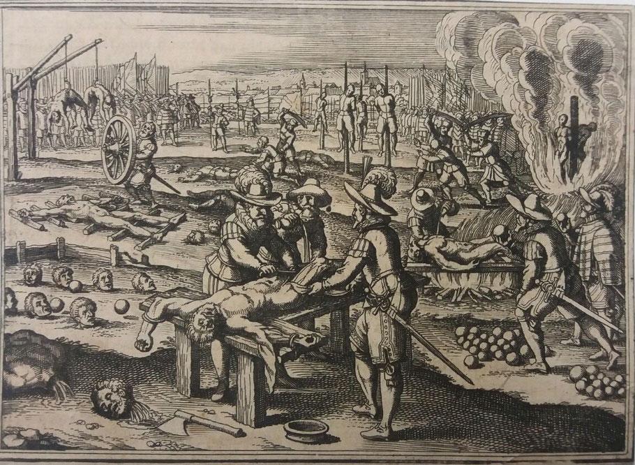 Darstellung von  Folter- und Hinrichtungsmethoden - ULB Münster - Sammlung Haxthausen