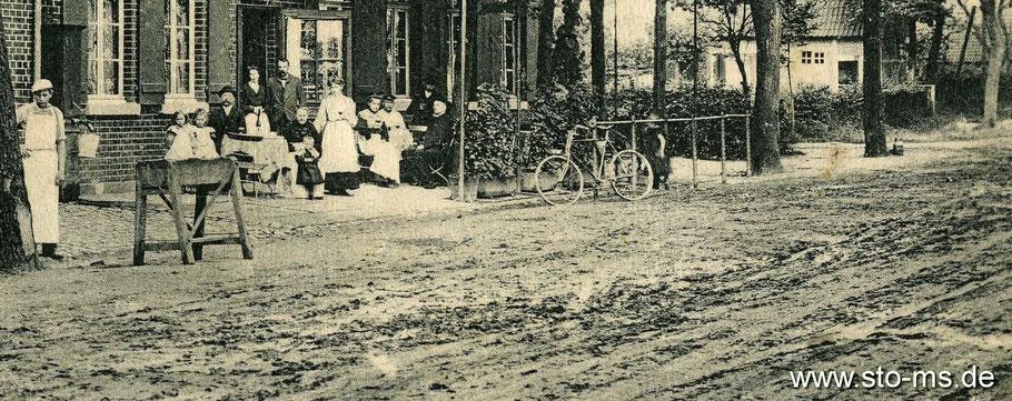 Straßenzustand um 1900 - Hammer Straße bei Hiltrup