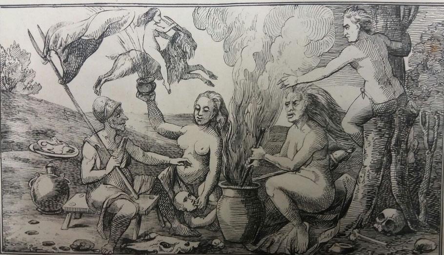 Hexen- Der Teufel in Gestalt eines Ziegenbockes - ULB Münster - Sammlung Haxthausen