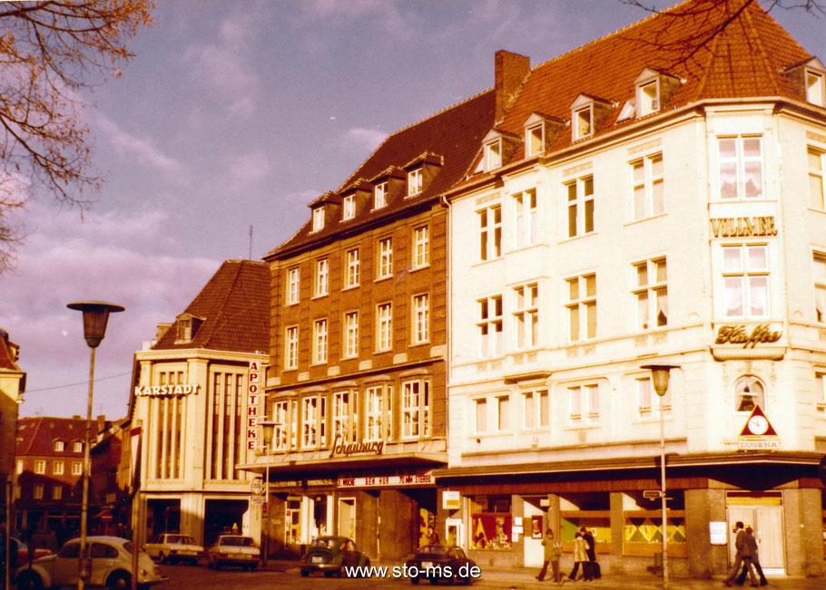 Salzstraße - Blick auf das Kino Schauburg und Karstadt (heute Stadtmuseum)