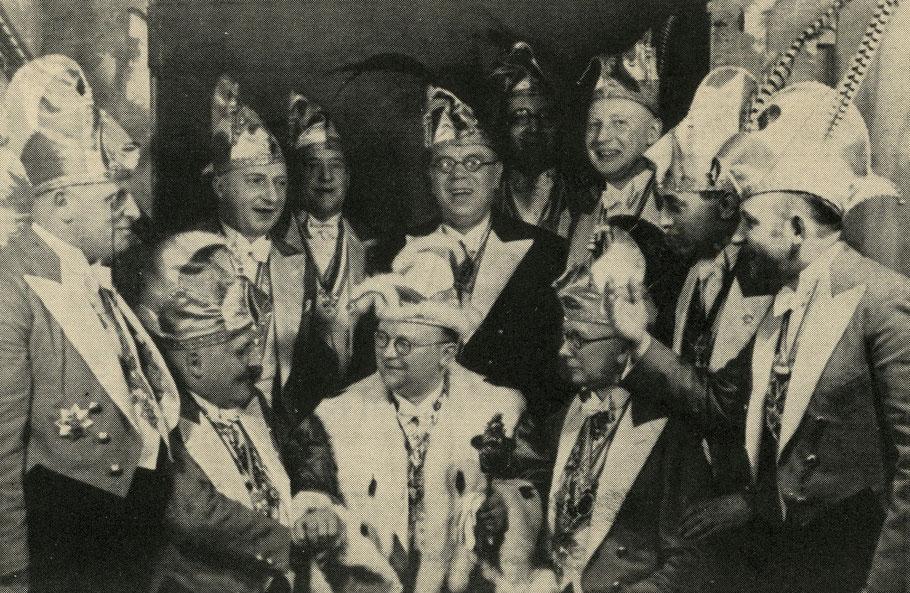 Pinkus Müller ist in den Jahren 1930, 1931und 1932 Münsters Karnevalsprinz - Sammlung Henning Stoffers
