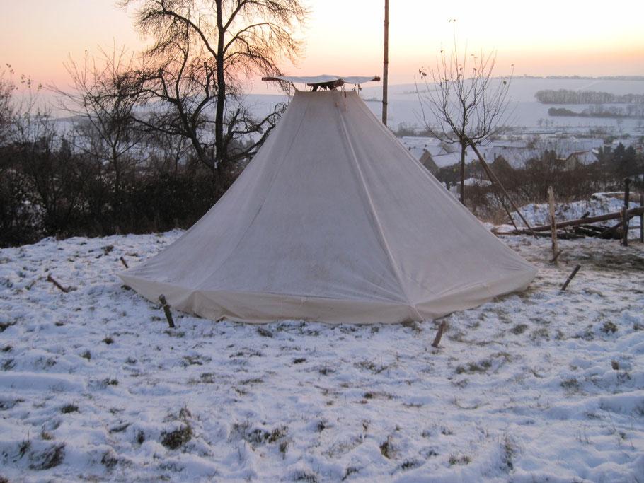 FEUERZELT Kohte von TIPI-WELTEN im Winter 2009