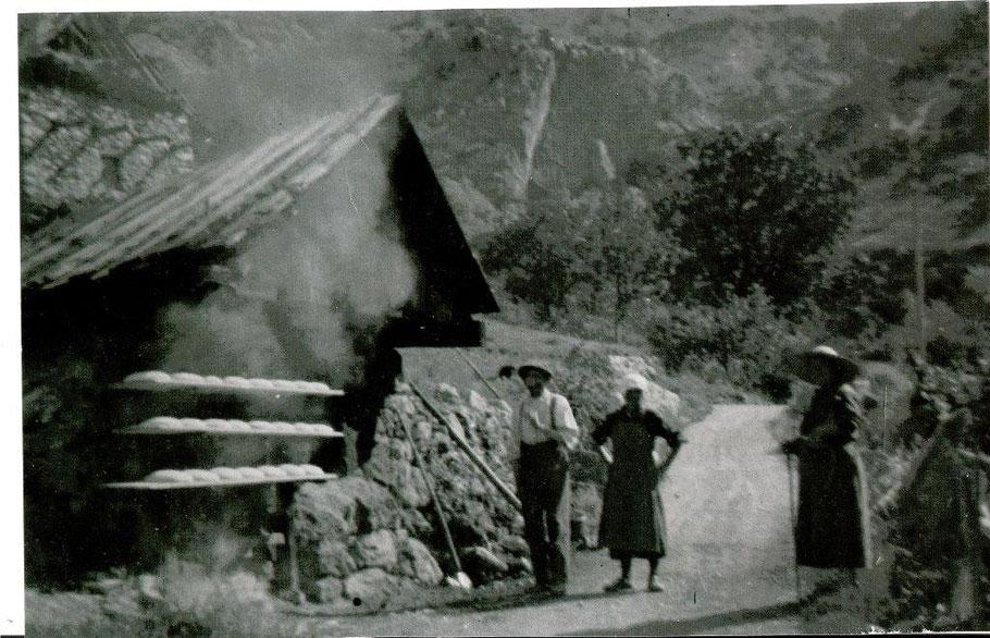 Four à pain du hameau du Serre en 1940