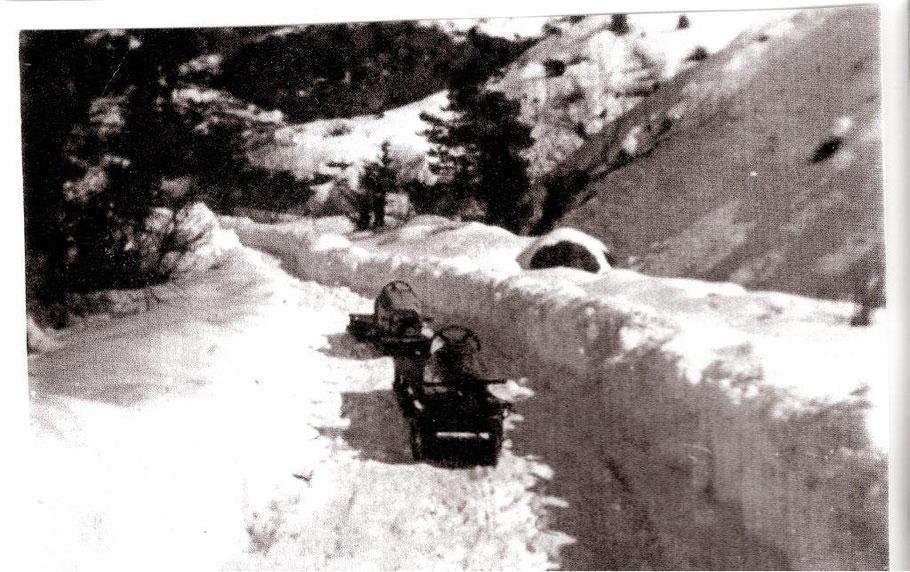 Sur la descente de Bouchouse, hiver 1942