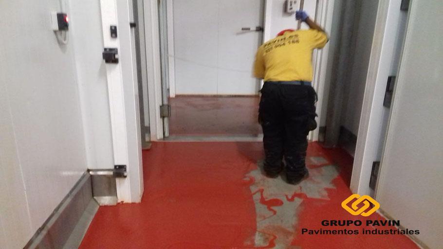 Reparaciones para industria cárnica en los suelos y pavimentos industriales de resinas