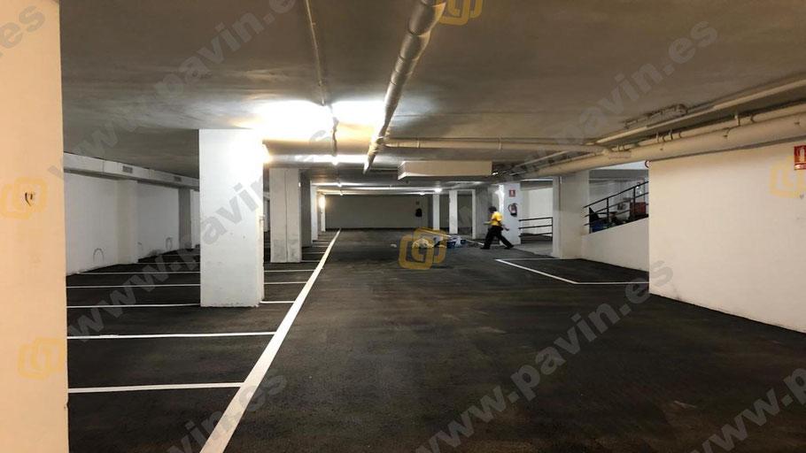 Pavimentos industriales de asfalto aplicados por Grupo Pavin en parkings comunitarios