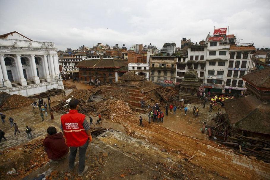 Nepal,2015,terremoto,Bashantapur,Durbar,patrimonio,de,la,humanidad