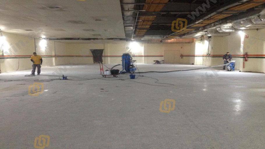 Preparación del soporte para la aplicación de pavimentos industriales para salas blancas ( ESD ) por Grupo Pavin