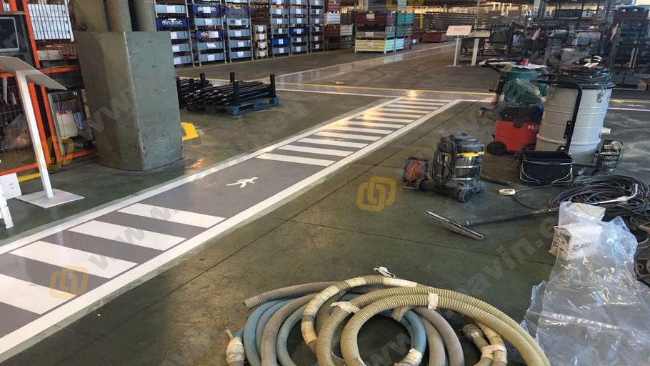 pasillos de peatones para la señalización industrial para automoción