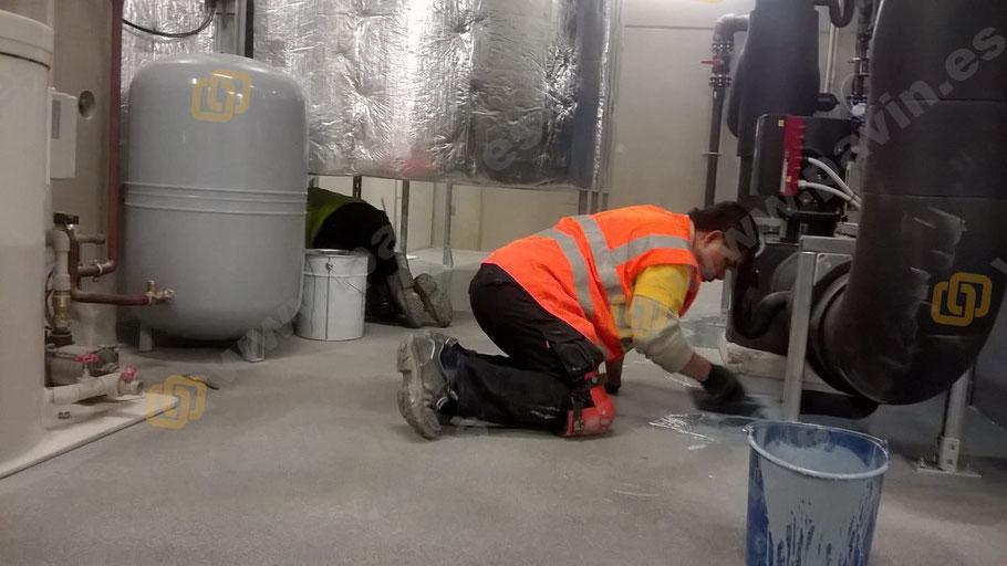 Suelos de resina para pavimentos industriales para la industria química aplicados por Grupo Pavin