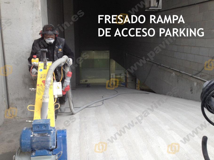 Rampas de acceso a parking, empresa o centro comercial aplicadas por Grupo Pavin