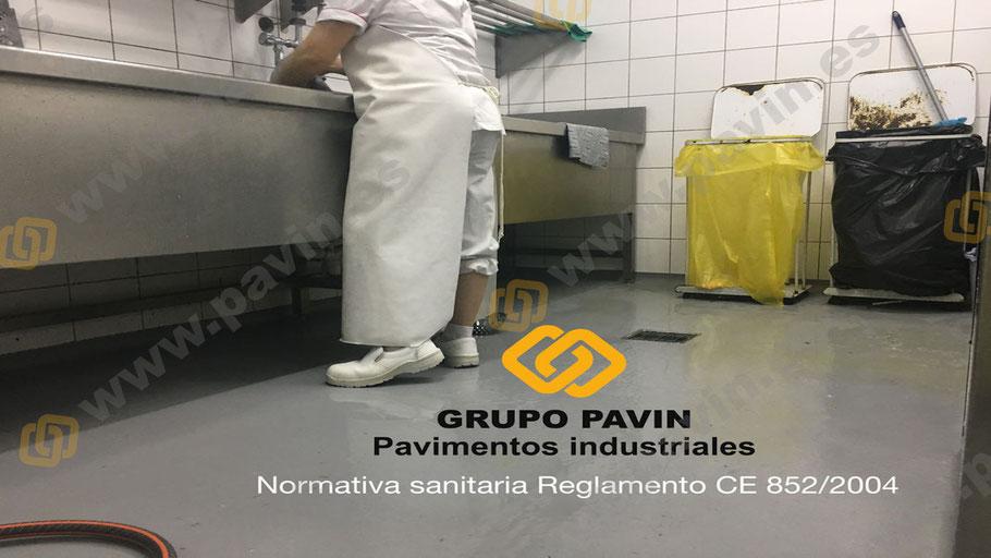 Suelos y pavimentos industriales  de resinas en Barcelona que cumplen la normativa sanitaria Reglamento CE 852/2004