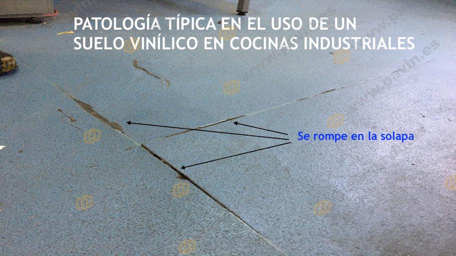 Los suelos vinílicos suelen fallar en los solapes entre rollos de producto