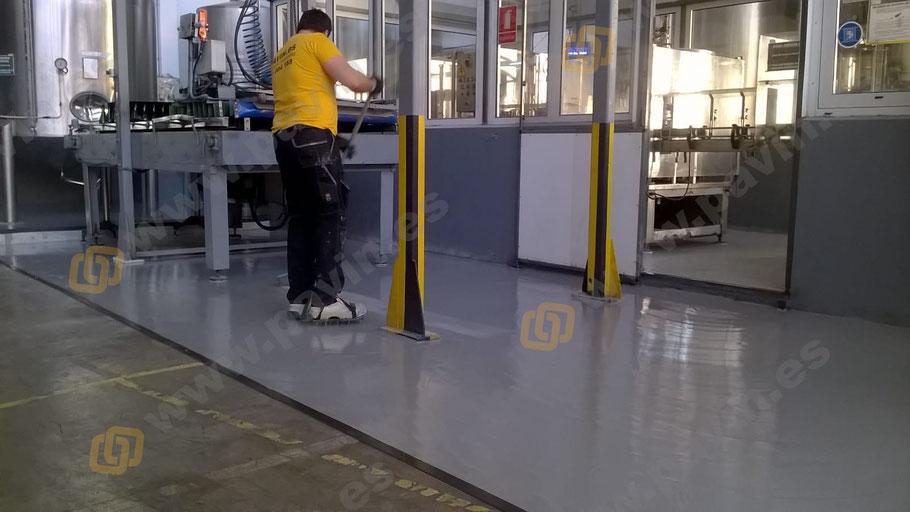 Suelos de resina para pavimentos industriales del sector bebidas o vinícola aplicados por Grupo Pavin