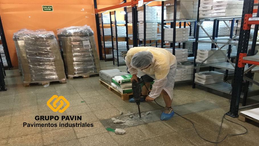 Reparación de suelos y pavimentos industriales de resinas continuos en Barcelona