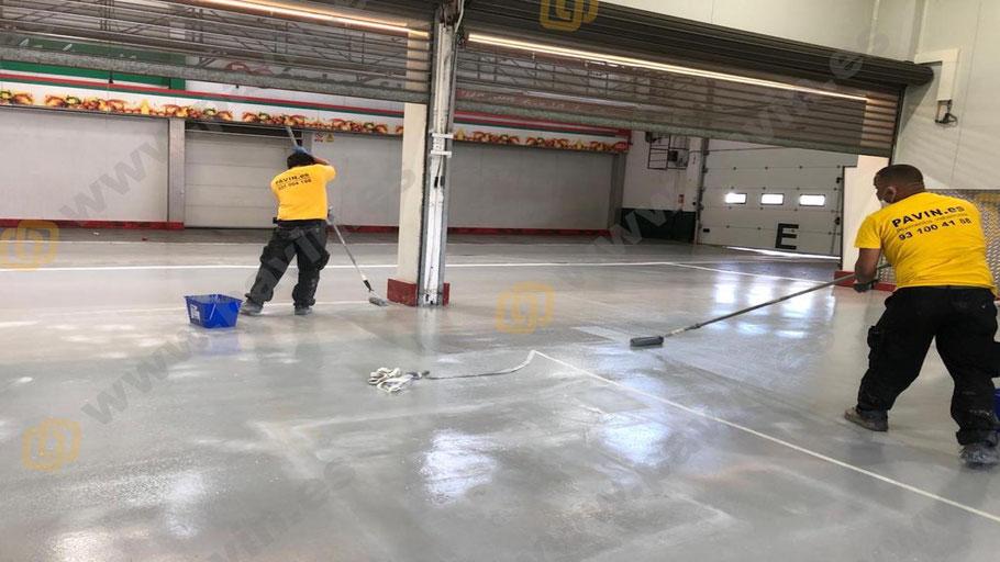 Suelos de resina para pavimentos industriales para el sector frutícola aplicados por Grupo Pavin