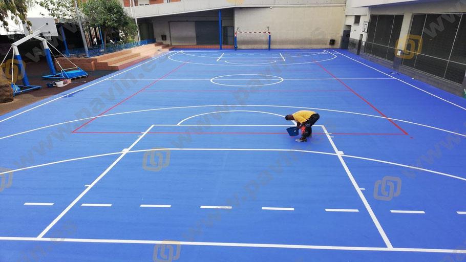 Suelos de resina para pavimentos industriales en centros escolares aplicados por Grupo Pavin