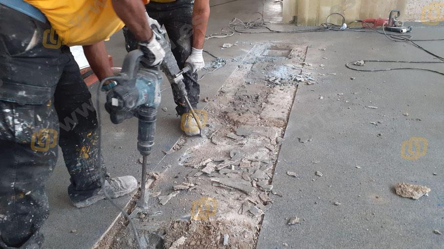 Grupo Pavin repara pavimentos de hormigón deteriorados para la aplicación de suelos de resina