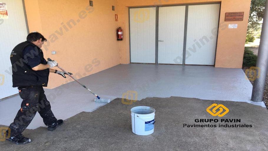 GRUPO PAVIN - Pavimentos Industriales   Aplicación de un sistema antideslizante para zona exterior celler en Tarragona