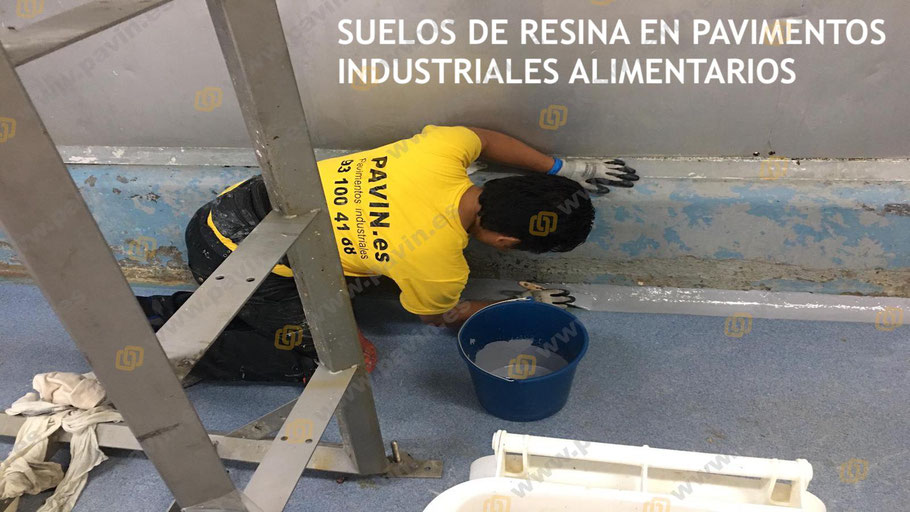 Suelos de resina para pavimentos industriales en naves de alimentación aplicados por Grupo Pavin